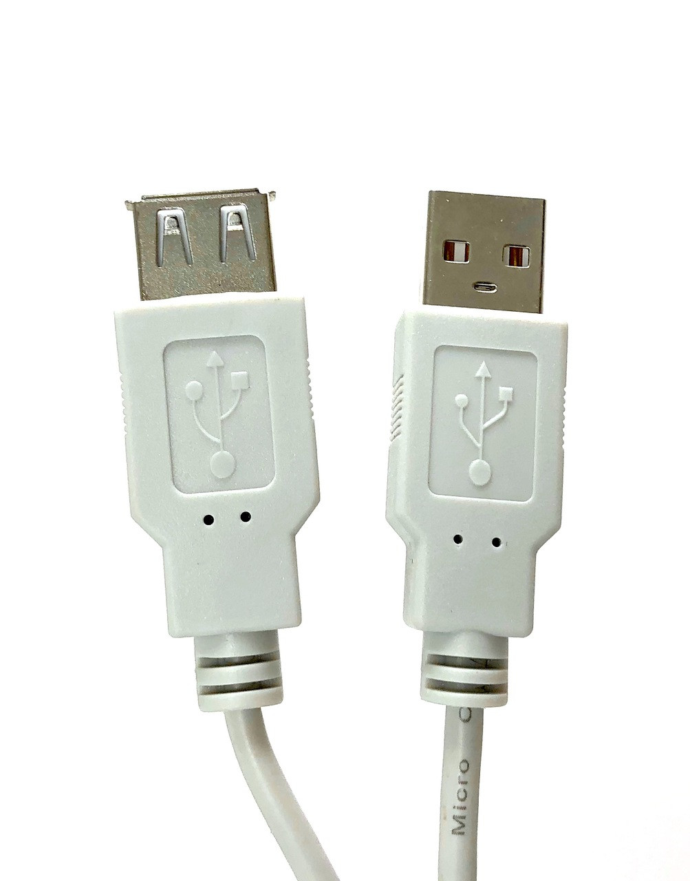 USB 2.0 Type A Male to Female Extension Cable - Beige - 10ft