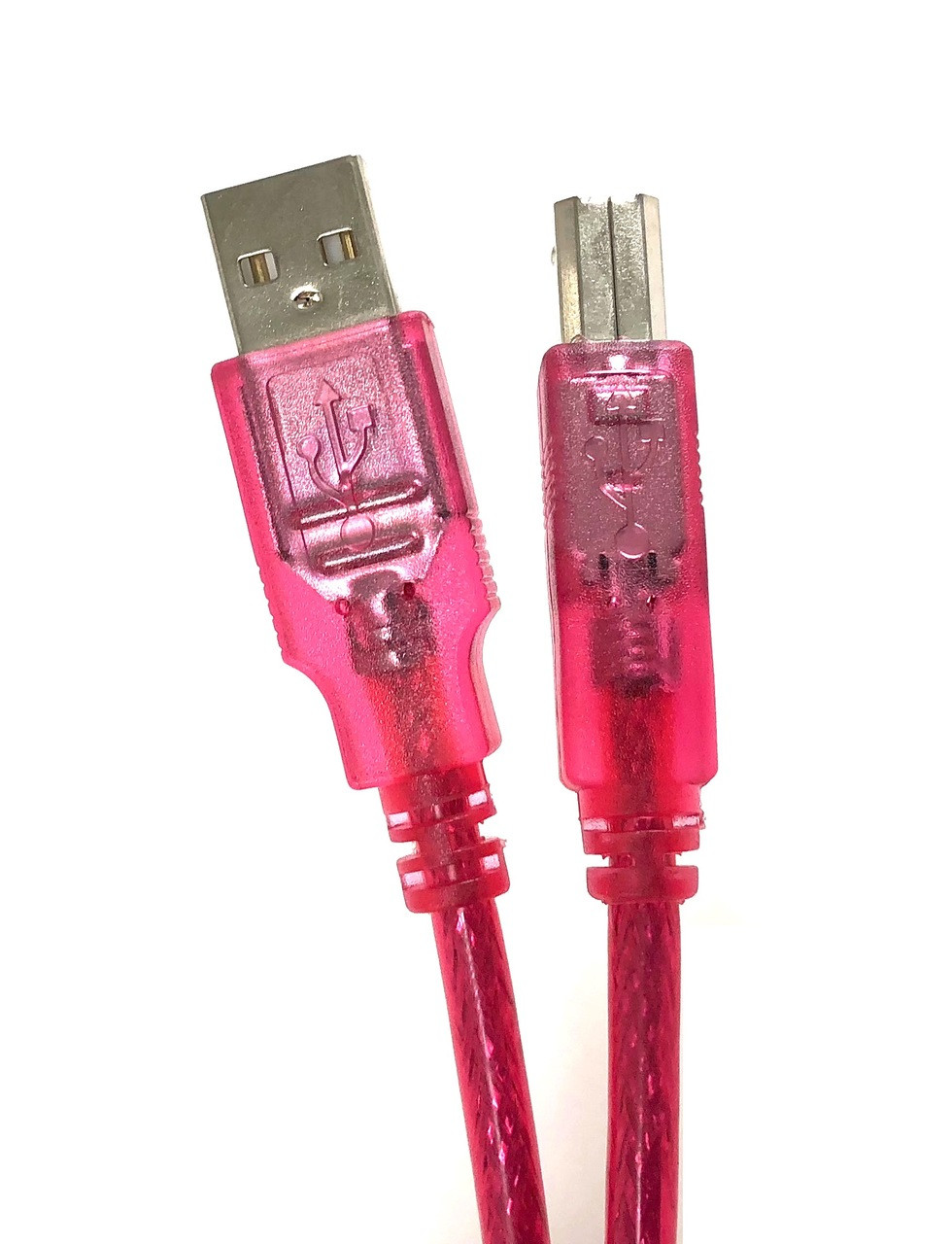 USB 2.0 A to B Type Cable - Strawberry - 6ft