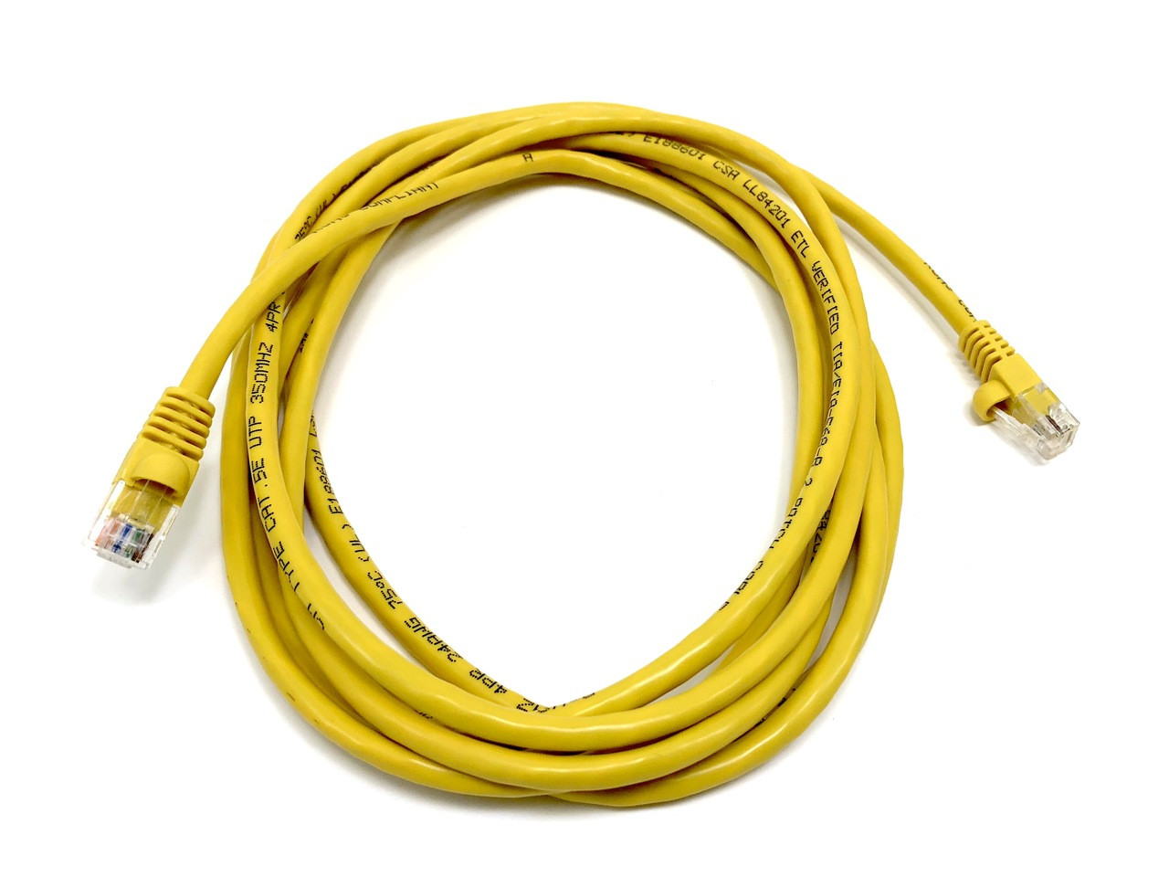 Category 5E UTP RJ45 Patch Cable Yellow - 10 ft
