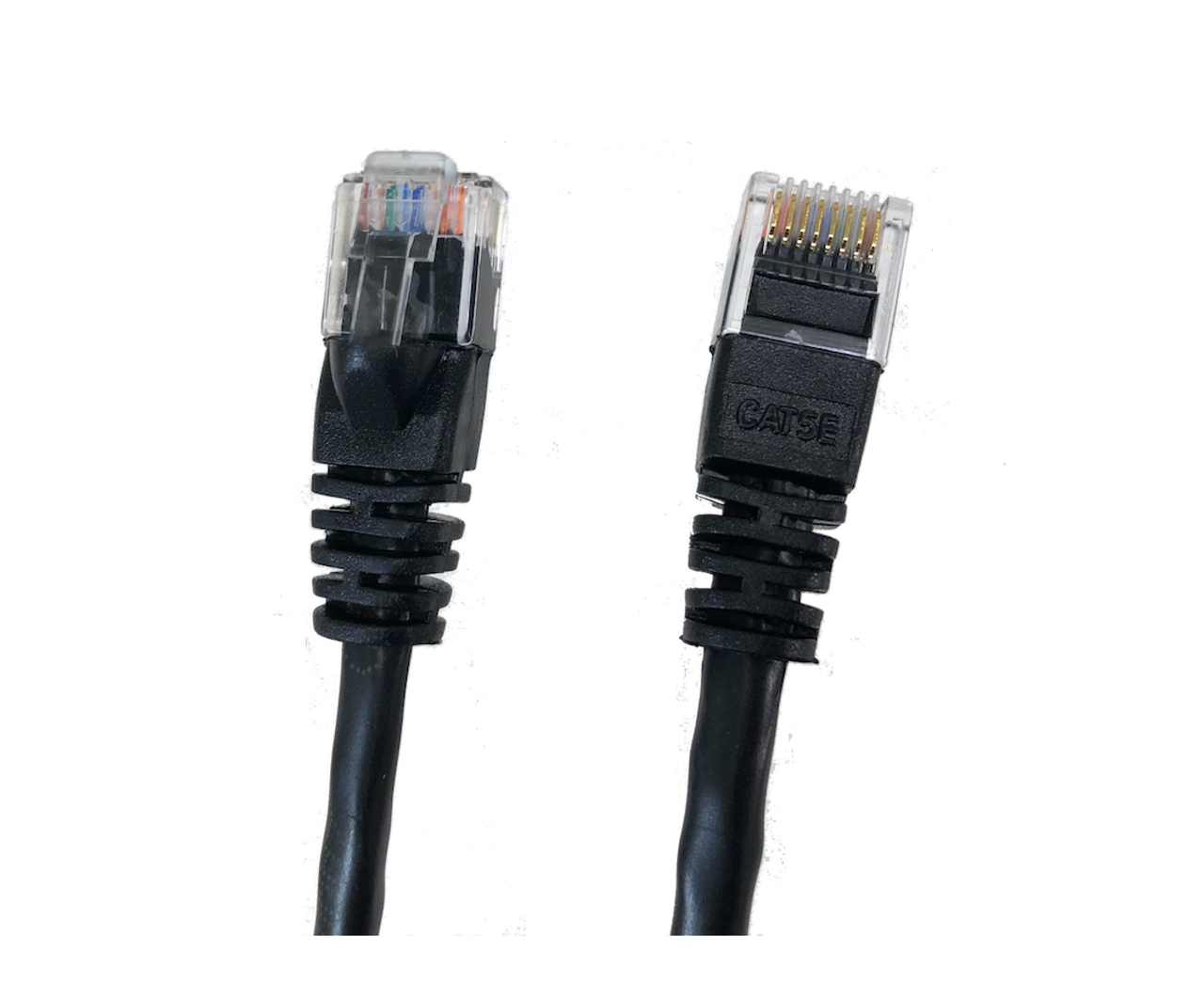 Category 5E UTP RJ45 Patch Cable Black - 7 ft
