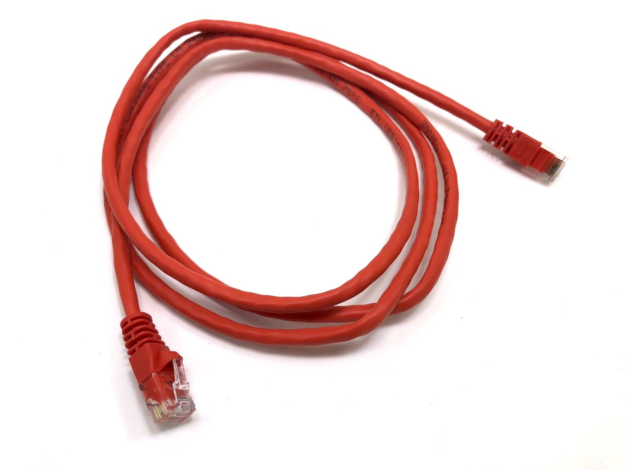Category 5E UTP RJ45 Patch Cable Red - 5 ft