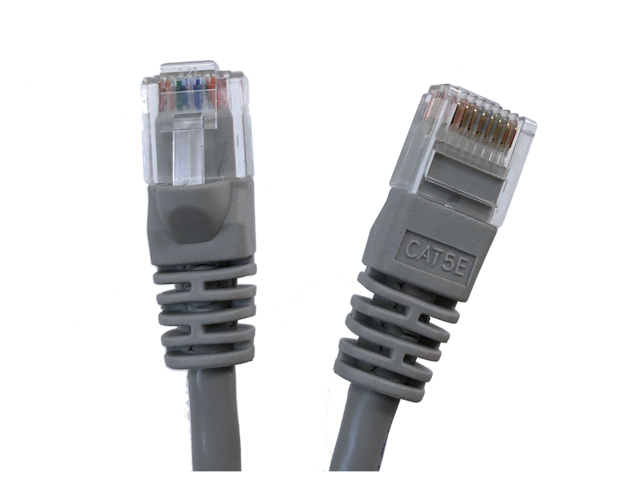 Category 5E UTP RJ45 Patch Cable Gray - 5 ft