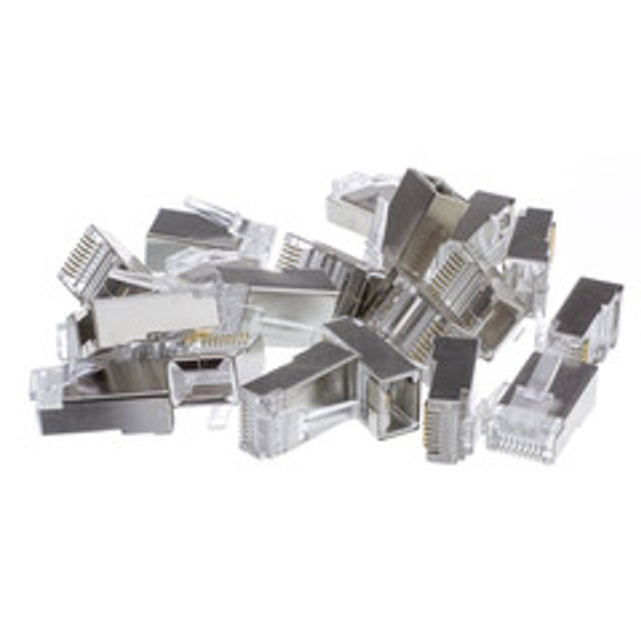 Category 5E RJ45 Modular Shielded Connector 100 Pack
