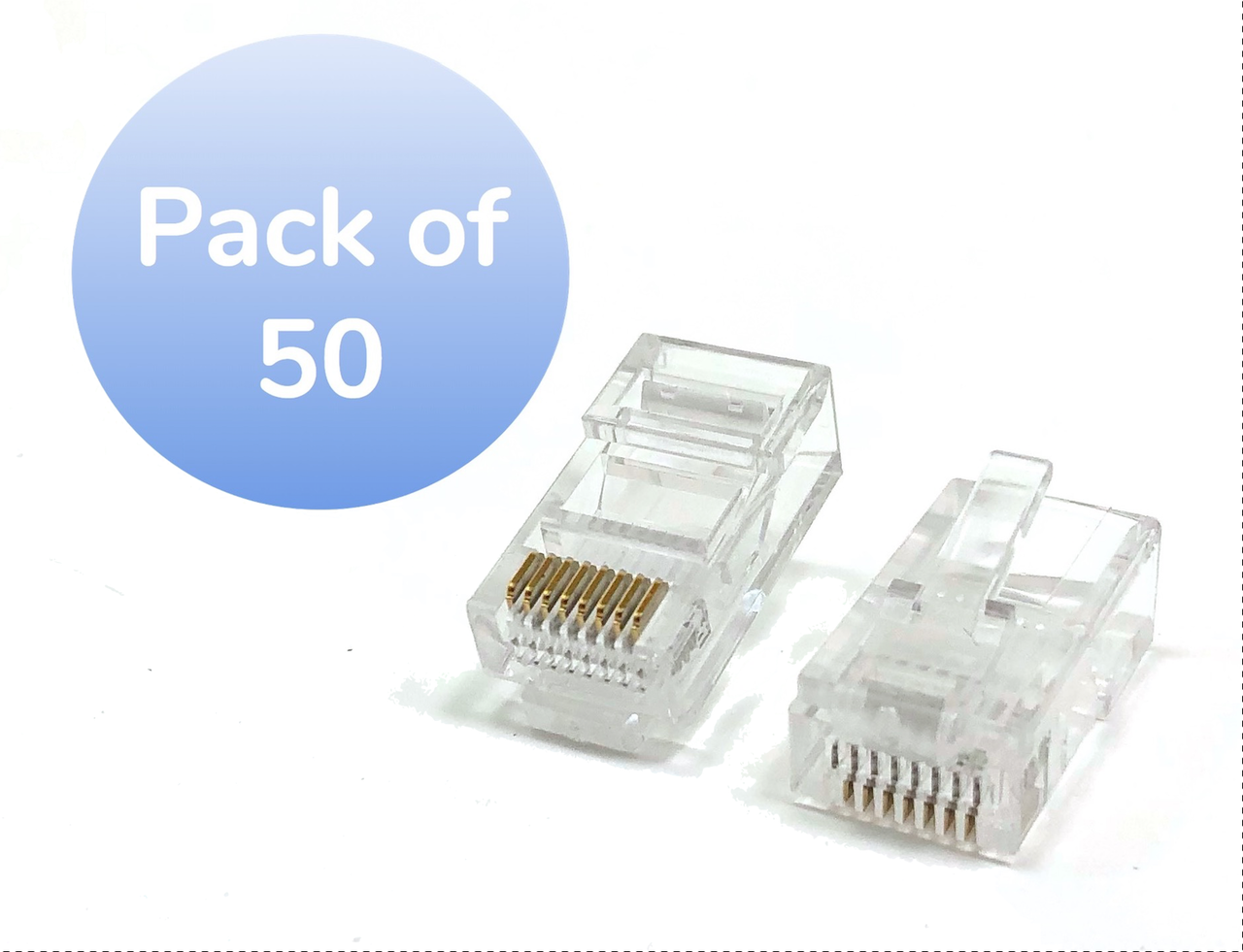 Category 5 Rj45 Modular Connector 50 Pack Micro Connectors Inc Cat 5e Bootless Cables Cat5e Yellow Ethernet Patch Cable