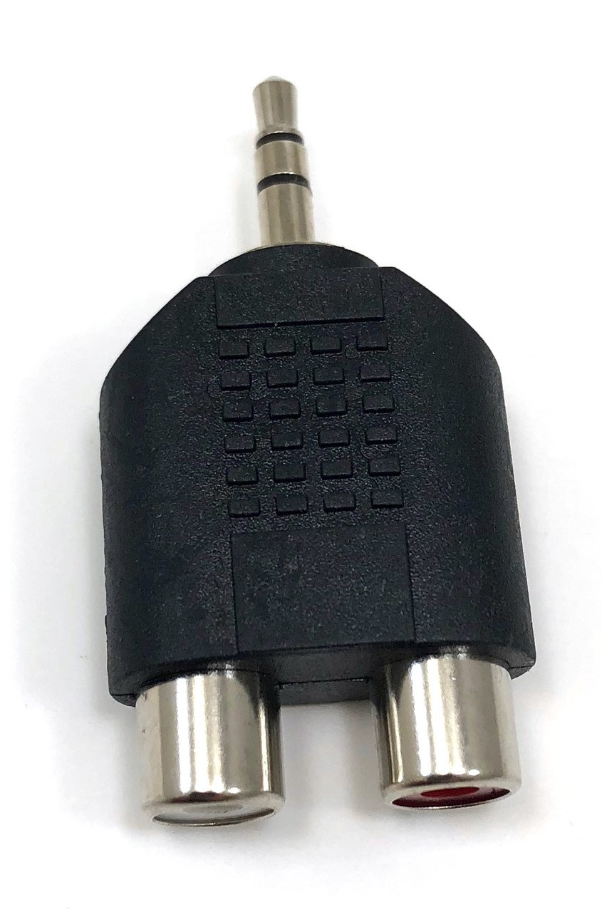 3.5mm Stereo Male to Two RCA Stereo Female Adapter