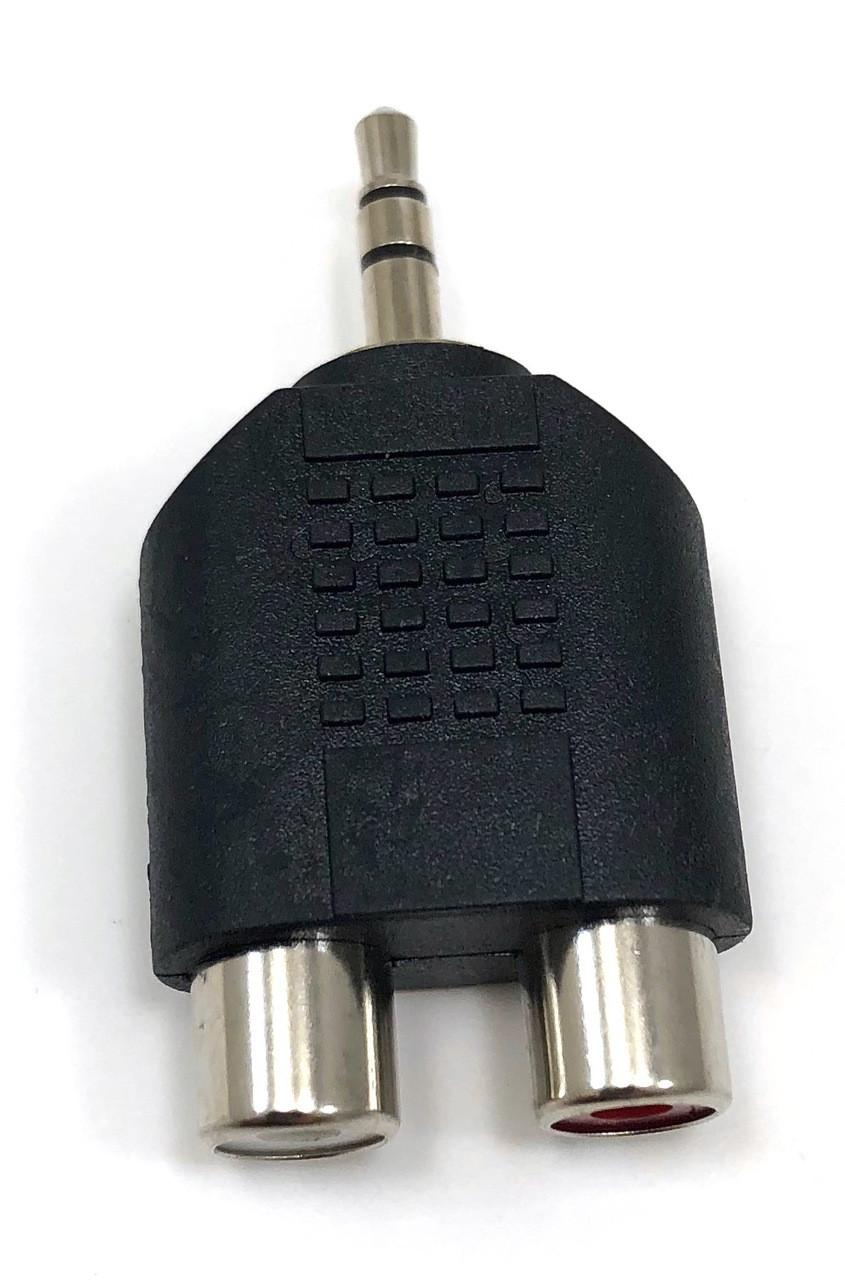3.5mm Stereo plug/2 RCA Female Adapter