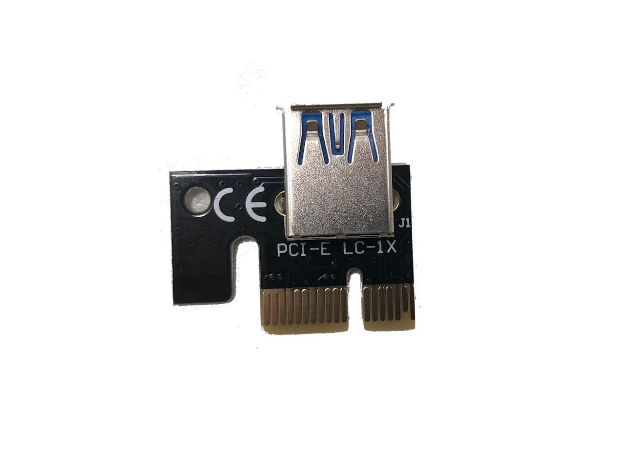 PCIe 6-Pin 16x to 1x Powered Riser Adapter Card (Black)