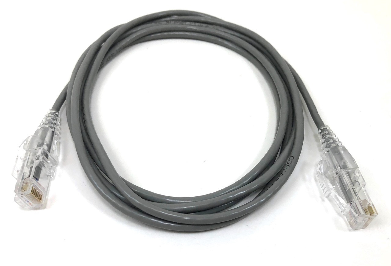 Ultra Slim CAT 6 Patch Cable (28AWG) Gray - 7 ft