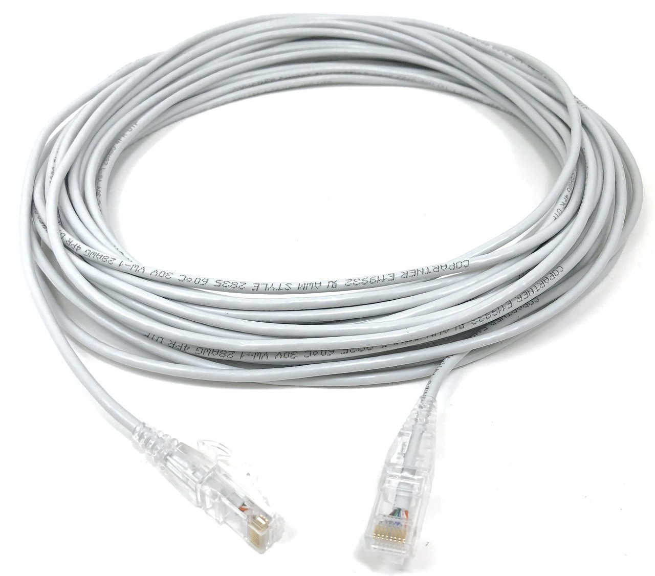 Ultra Slim CAT 6 Patch Cable (28AWG) White - 50 ft