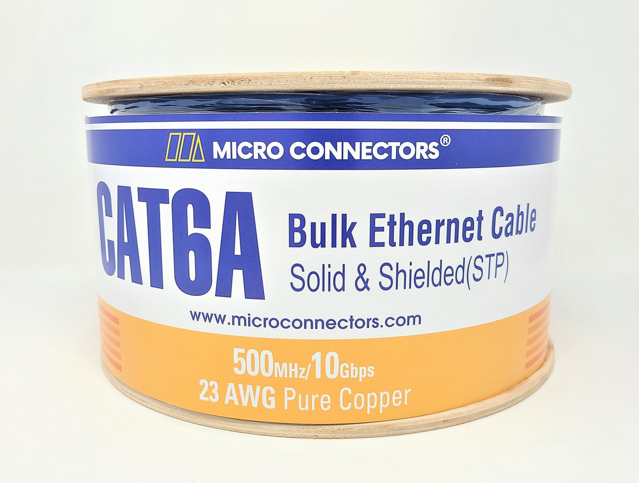 115 Ft STP Cat6a Ethernet Patch Cable SuperEcable Made in USA 23 AWG UL CMR- BLUE