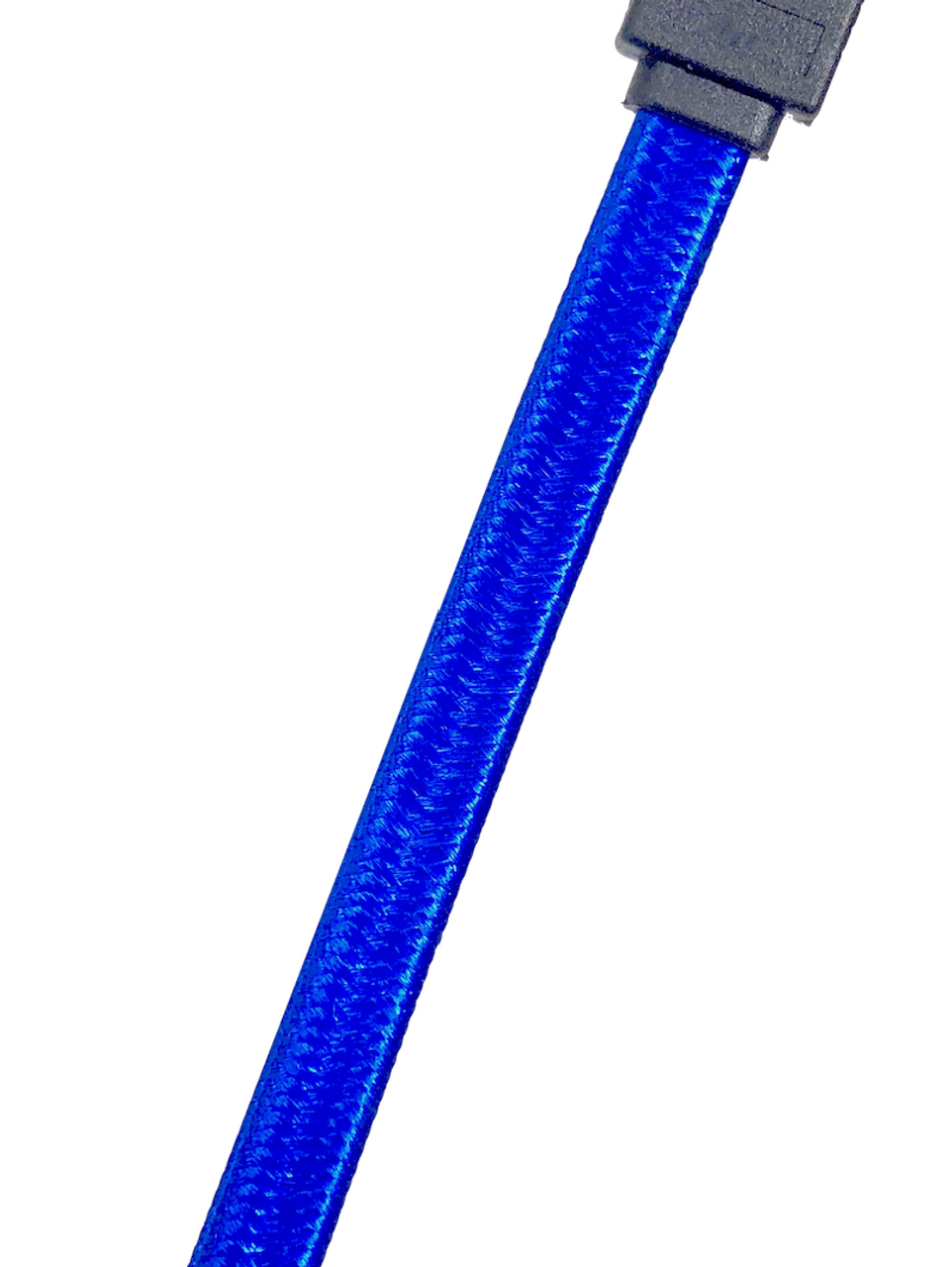 "2-Pack 40"" SATA III Straight Sleeve Cable with Locking Latch - Blue"