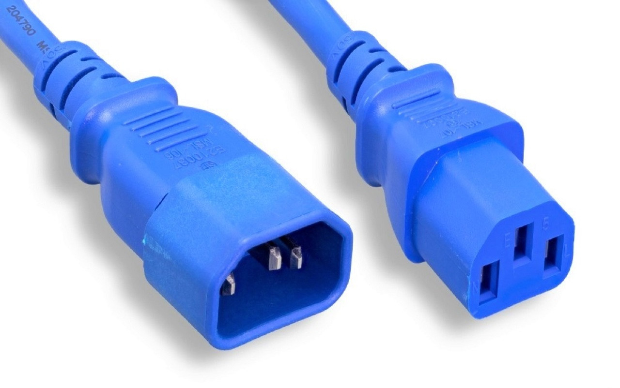 AC Power Extension Cord (UL Approved) Blue - 6 ft