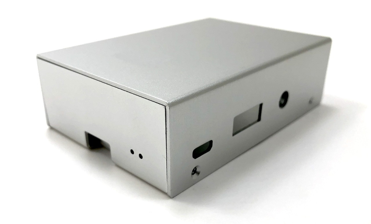 Aluminum Raspberry Pi 3 Case for Model B/B+ with UL Approved On/Off Switch 5V/2.5A Power Adapter - Silver