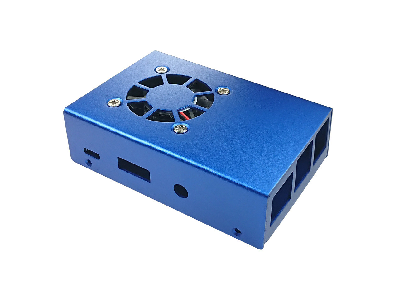 Aluminum Raspberry Pi 3 Model B/B+ Case with Fan, Blue