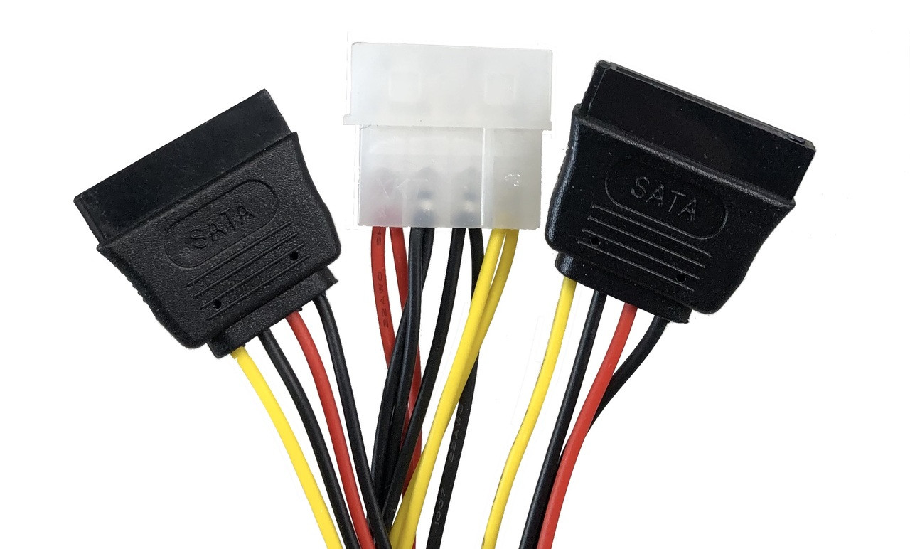 """2.5in SSD/Hard Drive Installation Kit For Two (2) 2.5"""" SSD/HDD to 3.5"""" Drive Bay with SATA Data and Power Cables"""