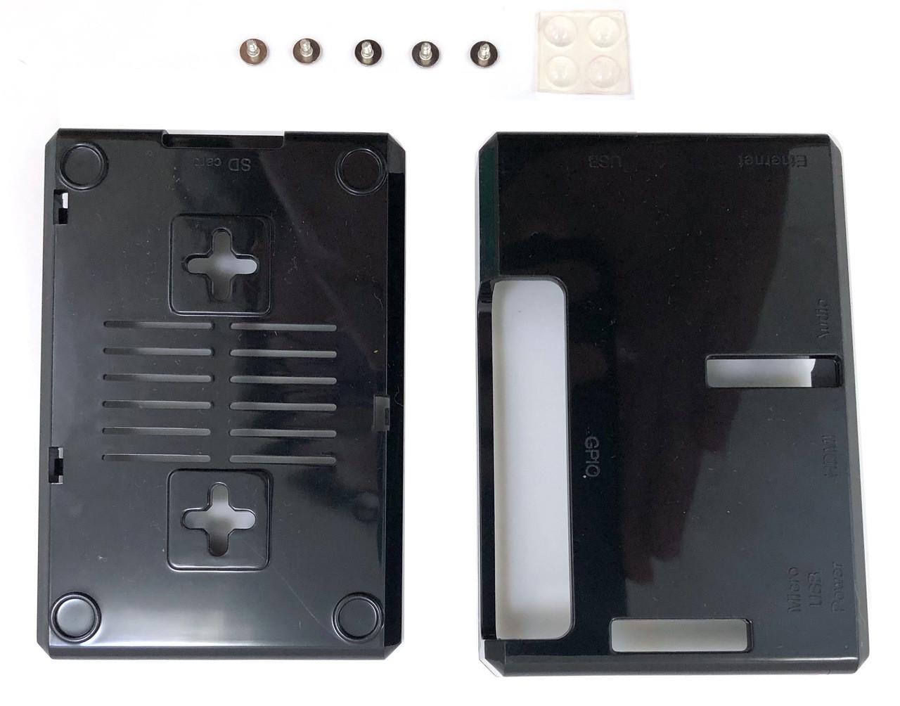 Micro Connectors Plastic Raspberry Pi 3 Model B B+ Case - Black (RAS-PLC01-BK)