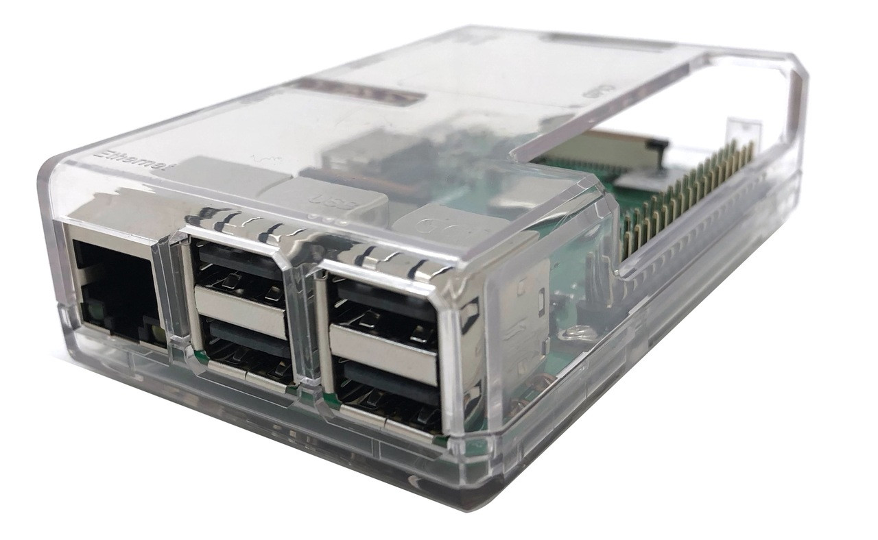 Micro Connectors Plastic Raspberry Pi 3 Model B B+ Case - Clear (RAS-PLC01-CL)