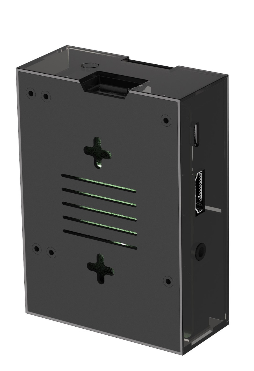 Micro Connectors Aluminum Raspberry Pi and ASUS Tinker Board Case with Fan and ETL Listed ON/OFF Switch Power Adapter (RAS-PCS07PWR-BK)