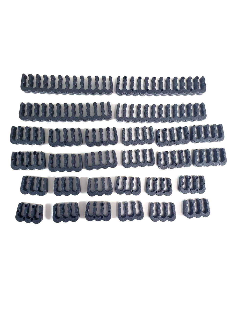 Micro Connectors 28 pcs Cable Combs Kit – Black (MSC-205BK)