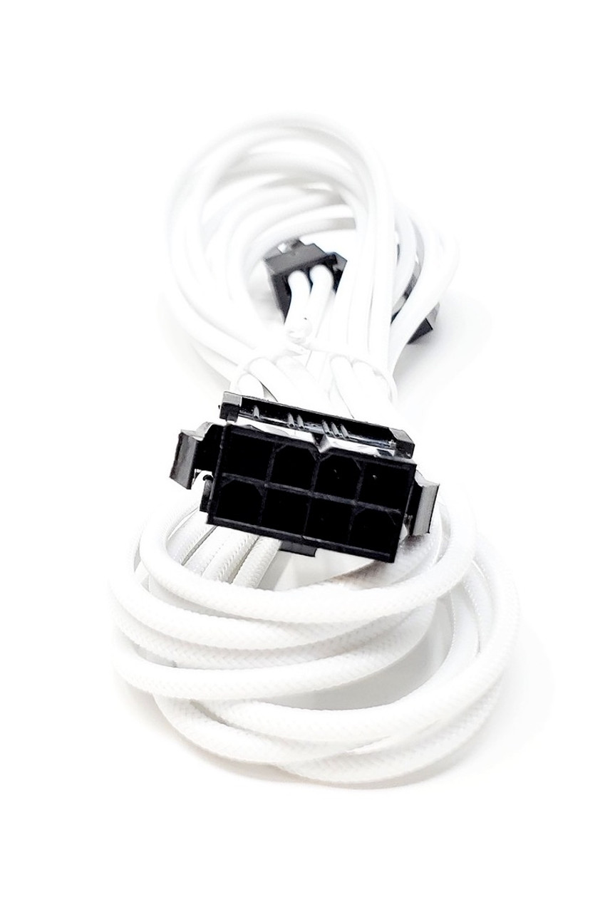 Premium Sleeved PSU Cable Extension Kit (White)