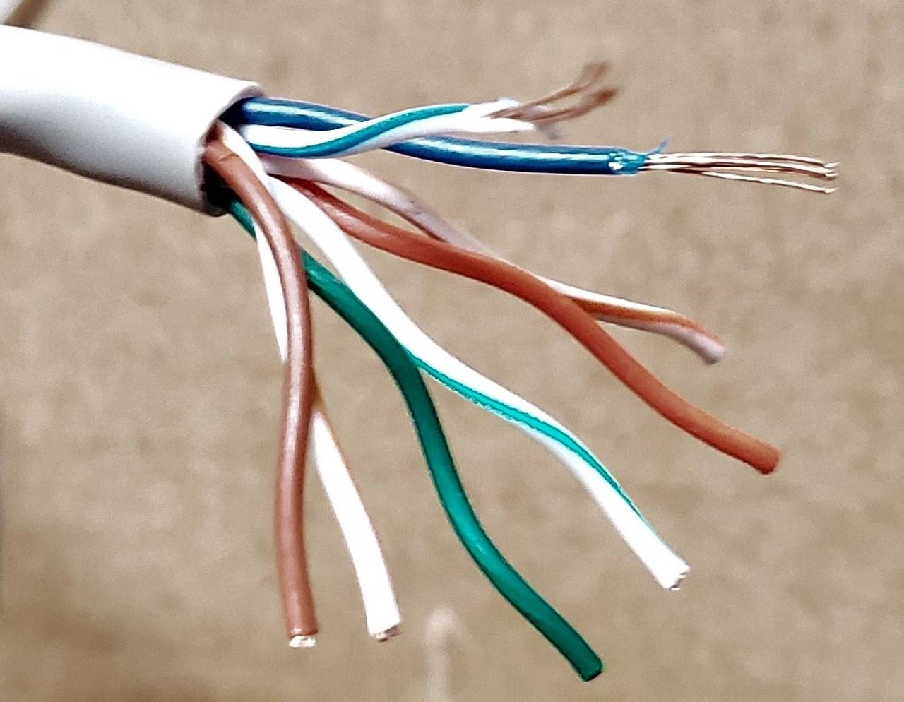 Cat6 Ethernet Bulk Cable Network Internet Cord Stranded UTP CM 24AWG 250ft Gray