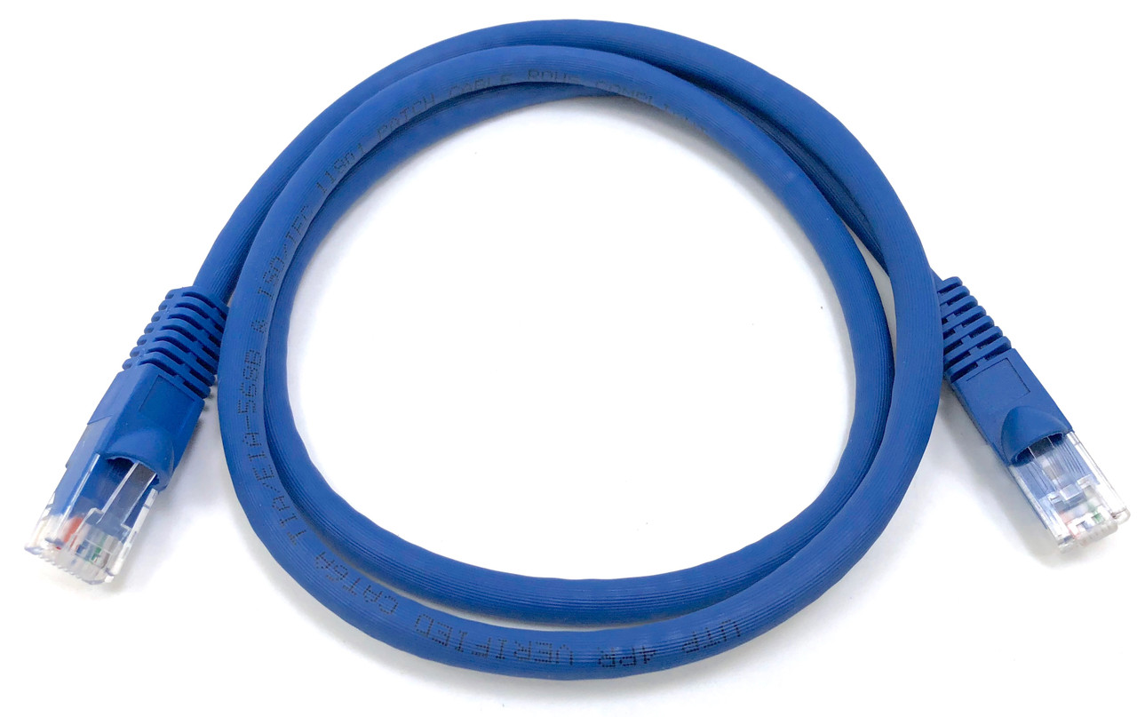 Micro Connectors, Inc. 1 FT Ethernet Cable CAT6A  UTP Booted - Blue - Professional Series - 10Gigabit/Sec Network/High Speed Internet Cable, 550MHZ, 24AWG