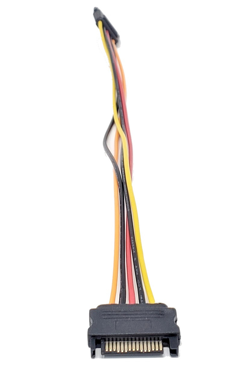 12in 15-pin SATA Male to Female Power Extension Cable