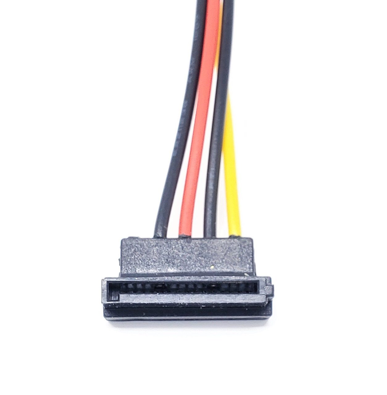 "6"" 4-Pin LP4 to Left Angle SATA Power Adapter Cable"