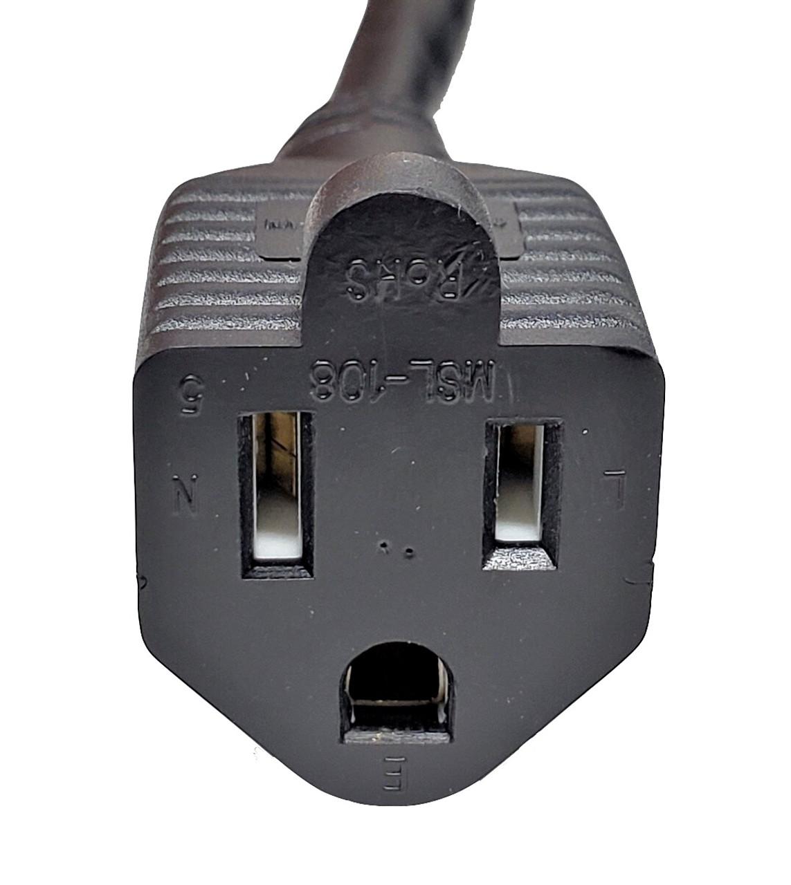 25ft Outdoor Heavy-Duty Power Extension Cable (NEMA 5-15P to NEMA 5-15R)