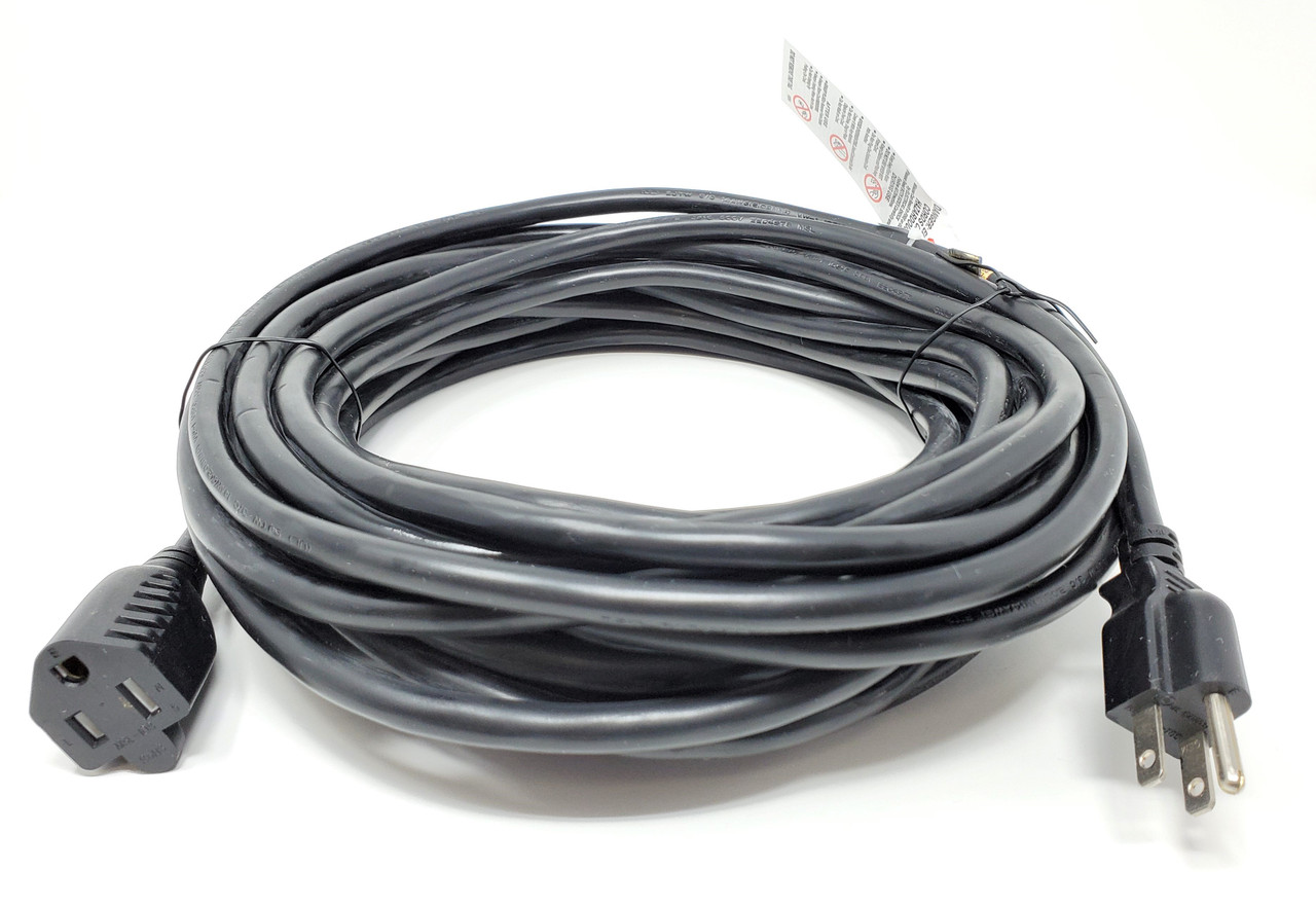 50ft Outdoor Heavy-Duty Power Extension Cable (NEMA 5-15P to NEMA 5-15R)