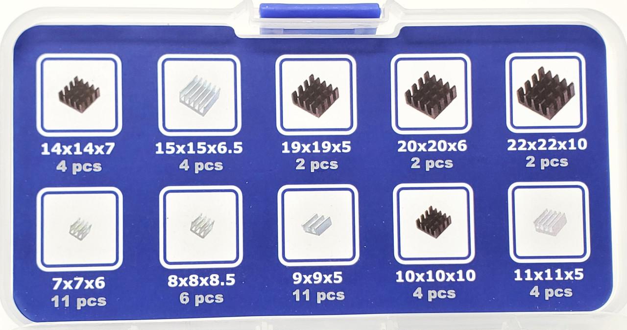 50pcs Assorted Heat Sink Set for Development Boards