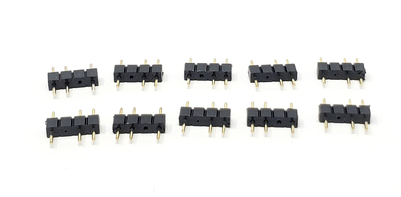 30cm Addressable RGB 1 to 4 Splitter Cable with Male Pins / 2-Pack