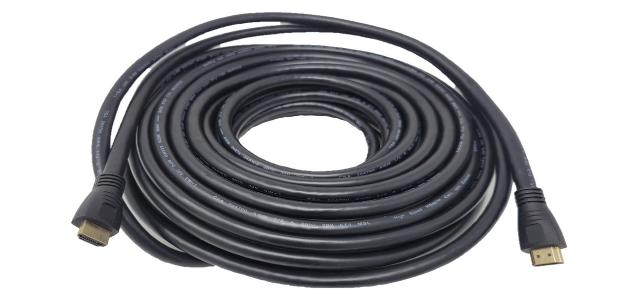 65 Feet High-Speed 4K HDMI 1.4 CL2 In-Wall Rated (24AWG) Cable
