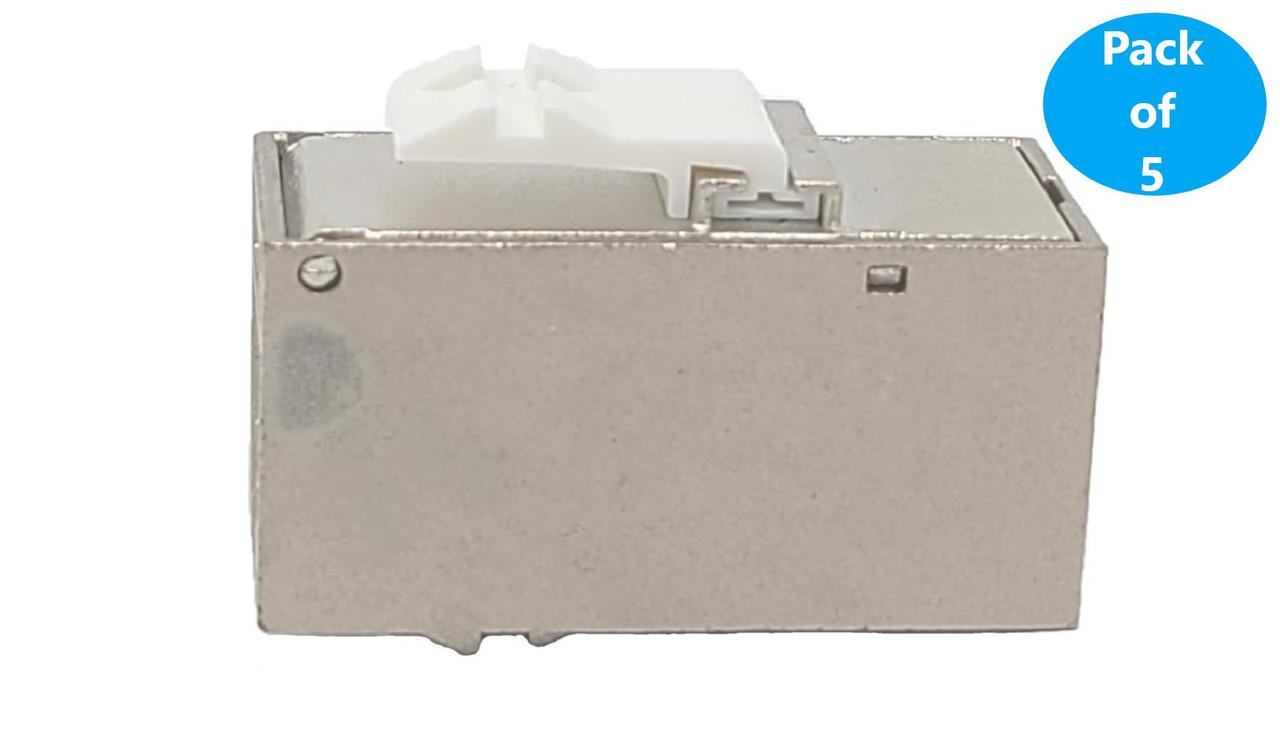 CAT 6A Shielded RJ45 Inline Keystone Coupler 5-Pack
