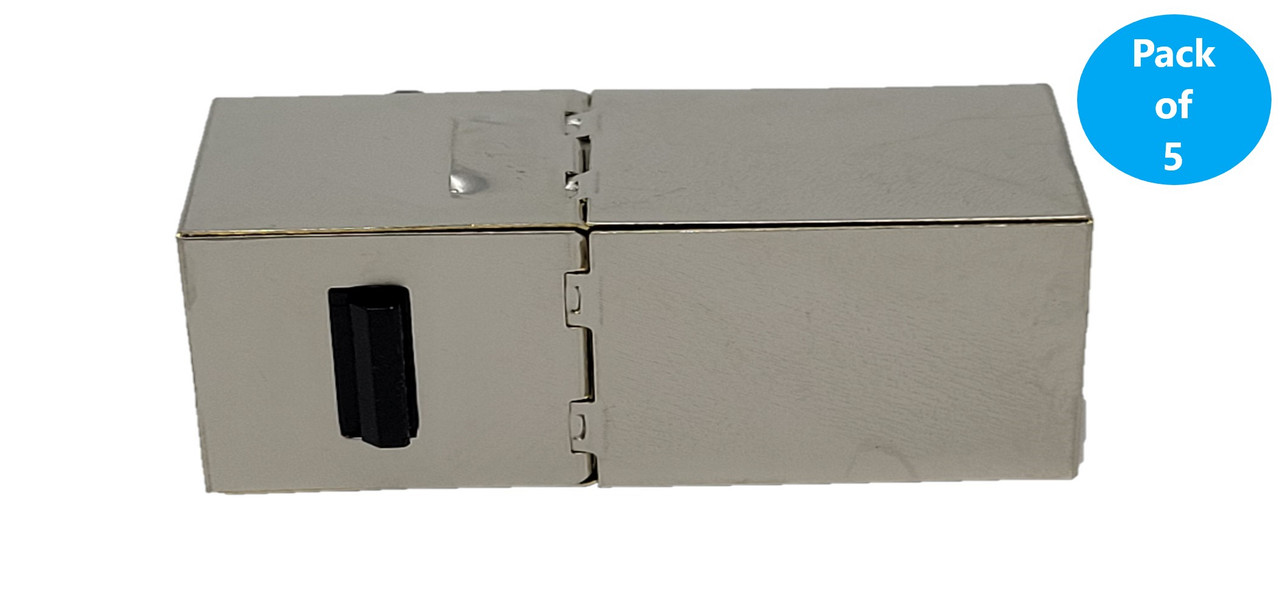 CAT 6 Shielded RJ45 Inline Keystone Coupler 5-Pack