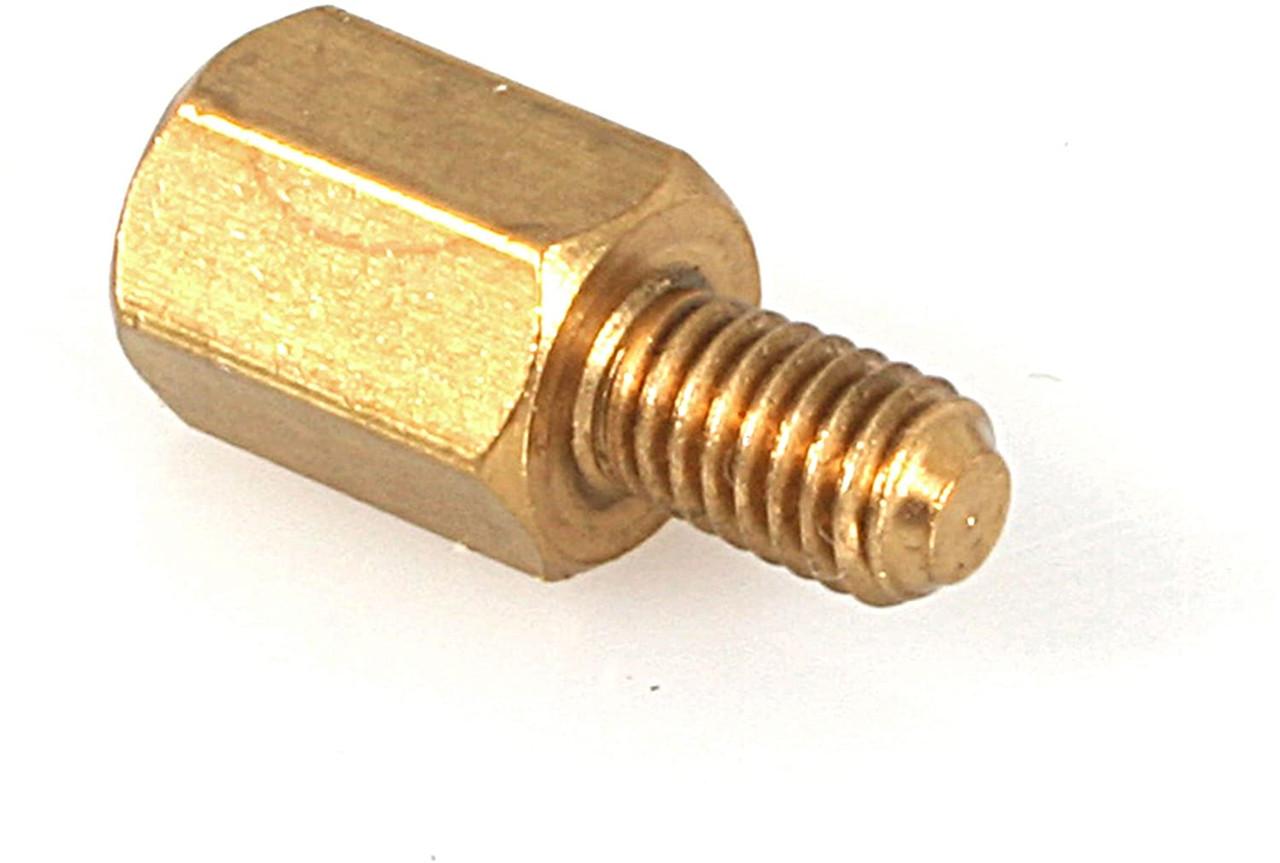 #6-32 Brass Motherboard Standoffs for ATX Computer Case 30-Pack