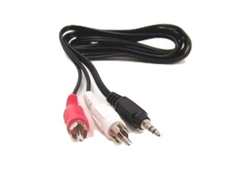 6ft 3.5mm Stereo Male to Two RCA Stereo Male Adapter Cable