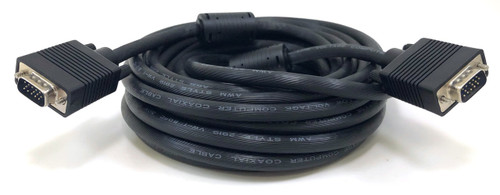 25ft Double Shielded HD15 (SVGA/VGA) M/M Cable