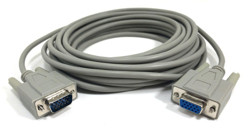 25ft HD15 (VGA/SVGA) M/F Extension Cable