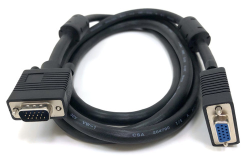 SVGA / VGA Monitor Extension Cable HD15 M/F - 6ft Double Shielded