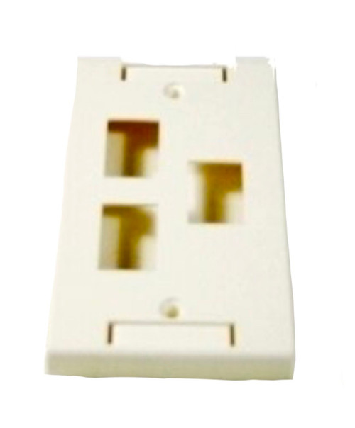 3-Port Single Gang Wall Plate (White)