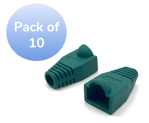 SNAGLESS CABLE BOOT CAT6 GREEN-10 PACK