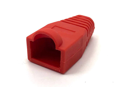 Cat5E Snagless Cable Boot (Red, 10 pack)