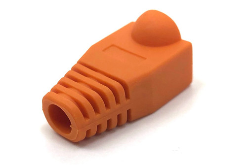 Cat5E Snagless Cable Boot (Orange, 10 pack)