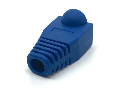 Cat5E Snagless Cable Boot (Blue, 10 pack)