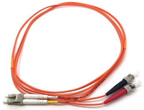 2m LC/ST Multimode Duplex 62.5/125 Fiber Optic Cable