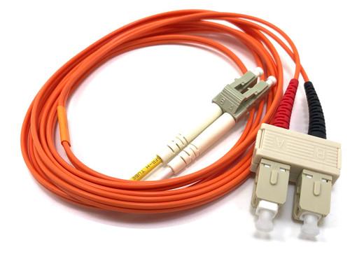 2m LC/SC Multimode Duplex 62.5/125 Fiber Optic Cable