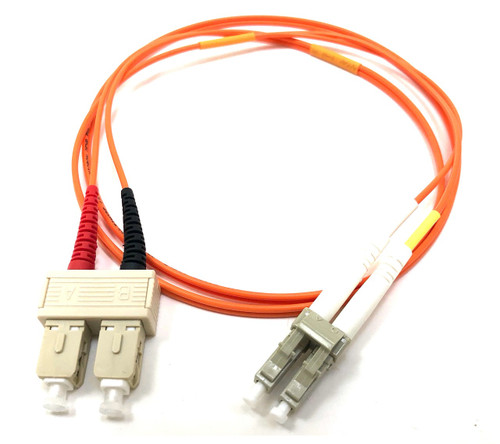 LC / SC Multimode Duplex 62.5/125 Fiber Optic Cable - 1 Meter