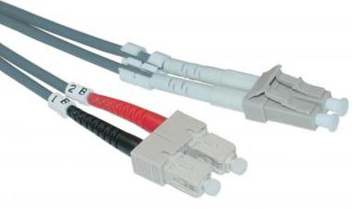 LC / SC Multimode Duplex 50/125 Fiber Optic Cable - 2 Meter