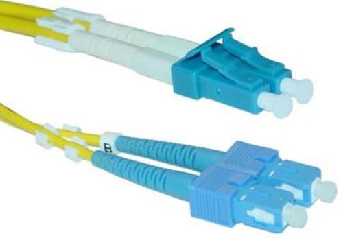LC / SC Singlemode Duplex 9/125 Fiber Optic Cable - 5 Meter
